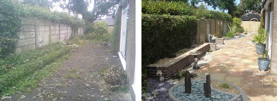 Mr and Mrs Humpage Court Yard Garden Project - St Albans